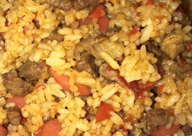 Cara membuat Nasi goreng mawut
