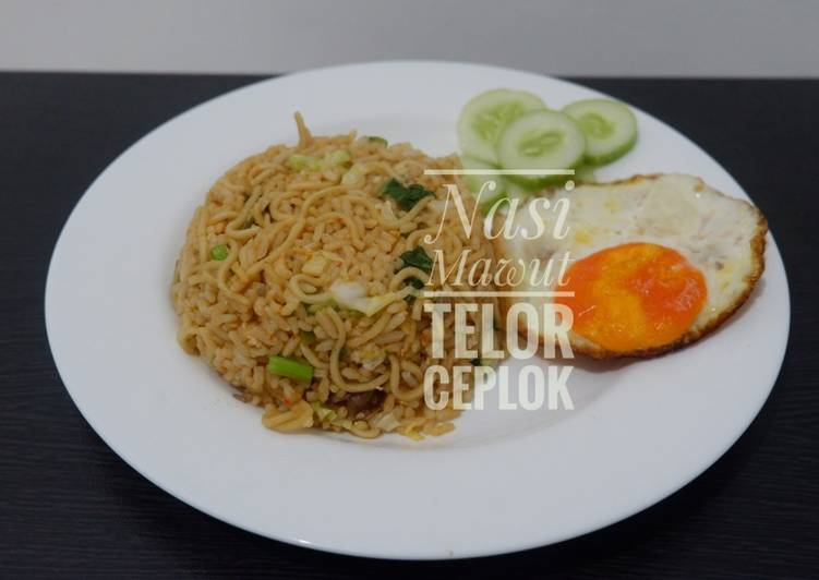 Resep membuat Nasi Mawut Telor Ceplok aka Magelangan