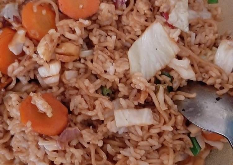 Resep mengolah Nasi goreng mawut ala saya