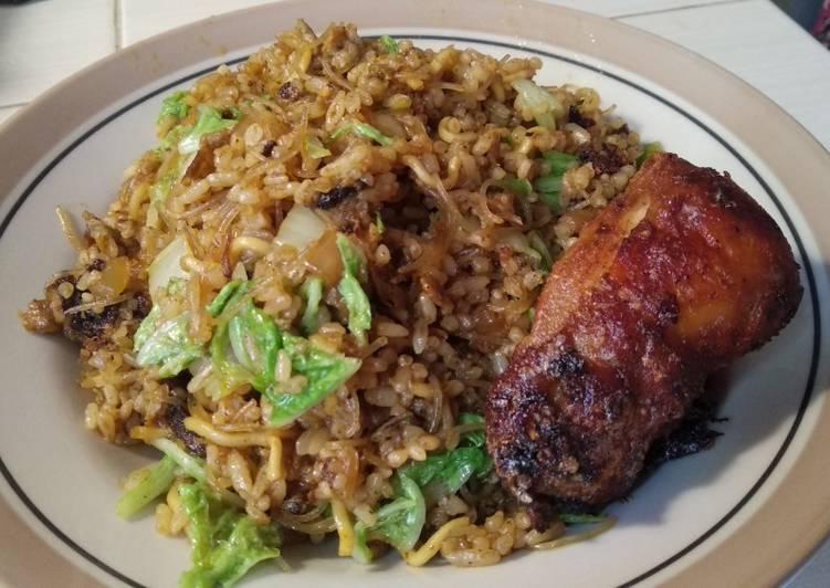 Cara Mudah memasak Nasi goreng Mawut bumbu soto enak