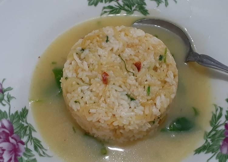 Resep: Nasi Mawut dengan kuah