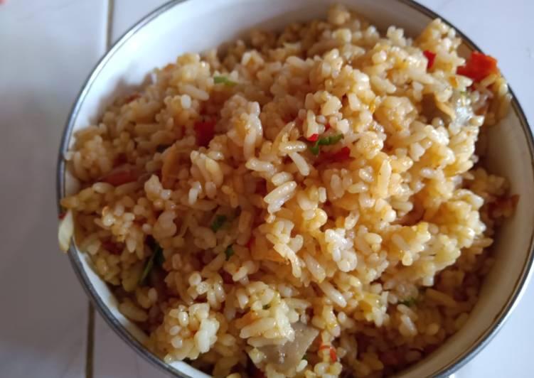 Cara mengolah Nasi goreng mawut