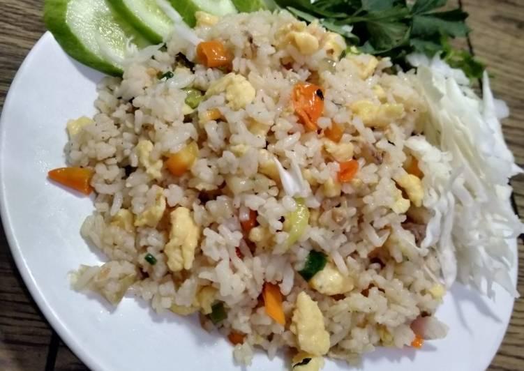 Cara mengolah Nasi goreng mawut,, istimewa