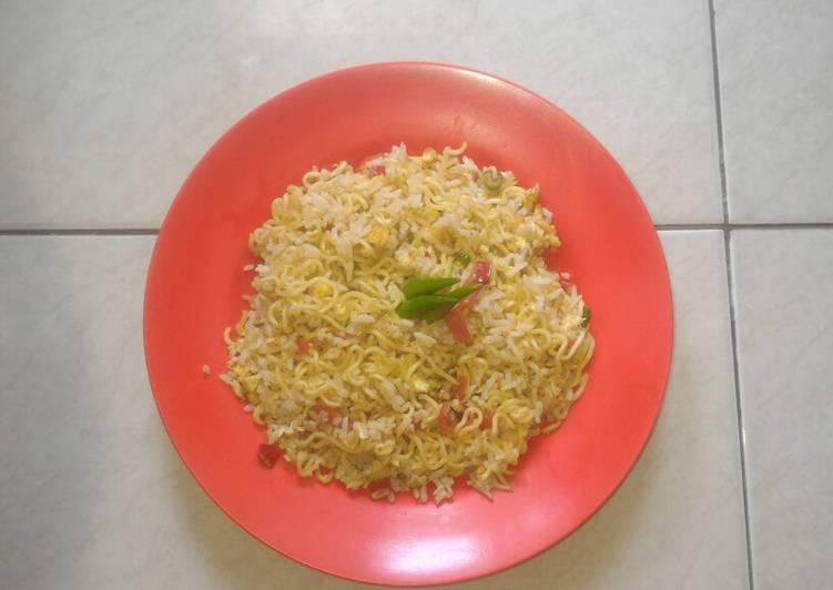 Resep: Nasi Mawut Indomie(rasa soto) istimewa