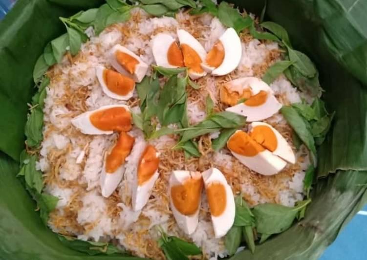 Cara memasak Nasi mawut telur asin lezat