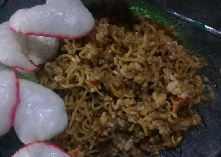 Cara Mudah membuat Nasi goreng Mawut terasi pedas manis