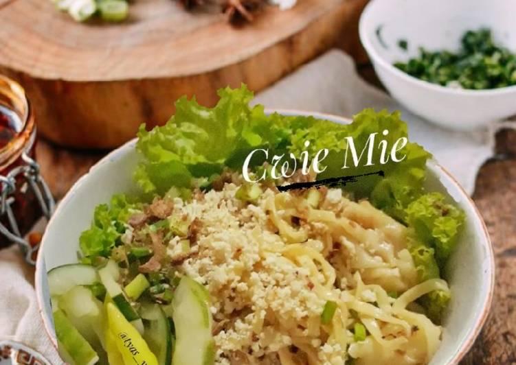 Cara memasak Mie pangsit / cwie mie