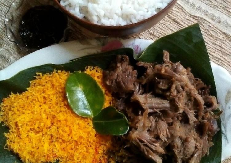 Resep: Sego/nasi Krawu Gresik lezat