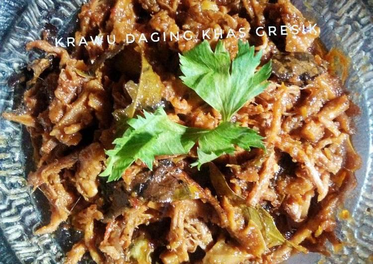 Resep: Nasi krawu daging khas gresik istimewa