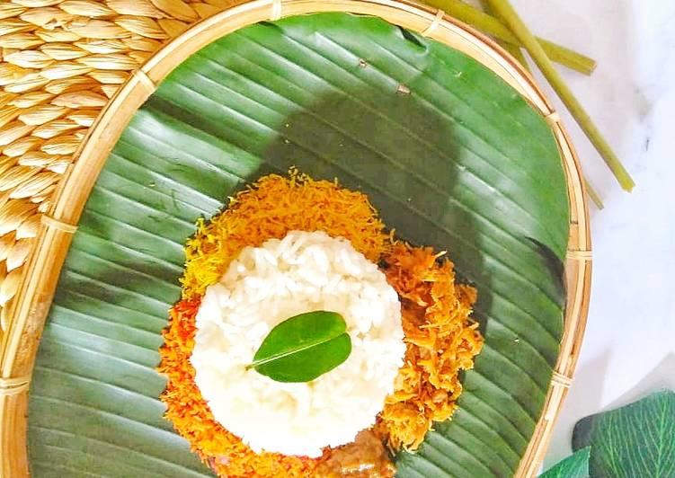 Resep memasak Nasi krawu ayam istimewa