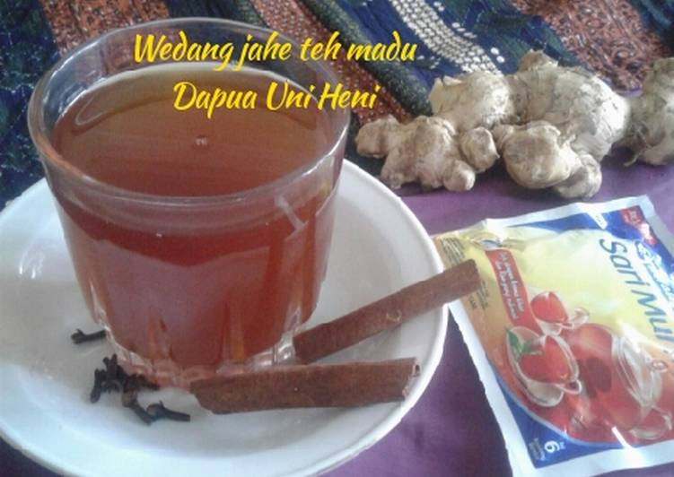 Resep: Wedang jahe teh madu lezat