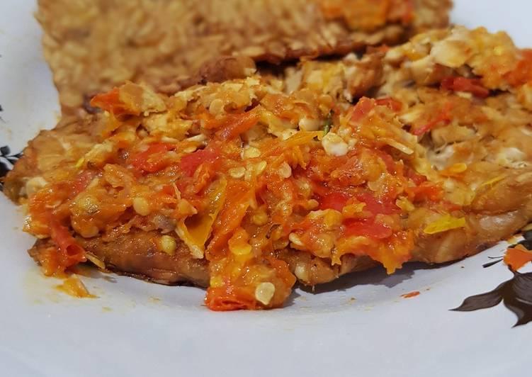 Resep: Tempe penyet sambal bawang