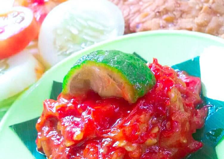 Resep: SAMBAL JERUK - Cocok untuk Penyetan (tempe tahu/ayam/lele) enak