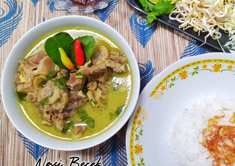 Resep memasak Nasi Becek khas Nganjuk masak Magicom