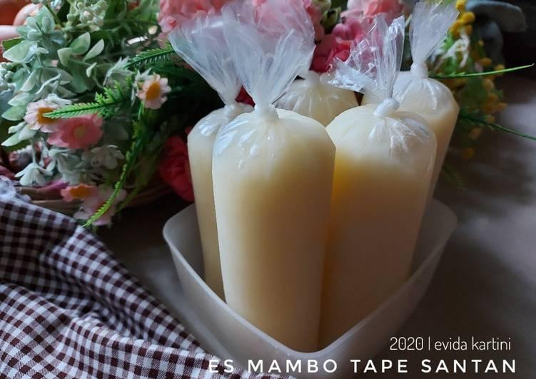 Resep membuat Es Mambo Tape Santan
