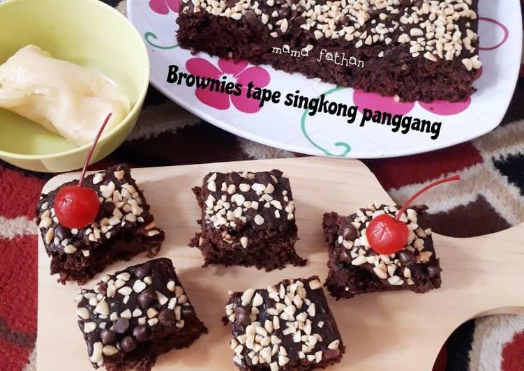 Resep: Brownies tape singkong panggang