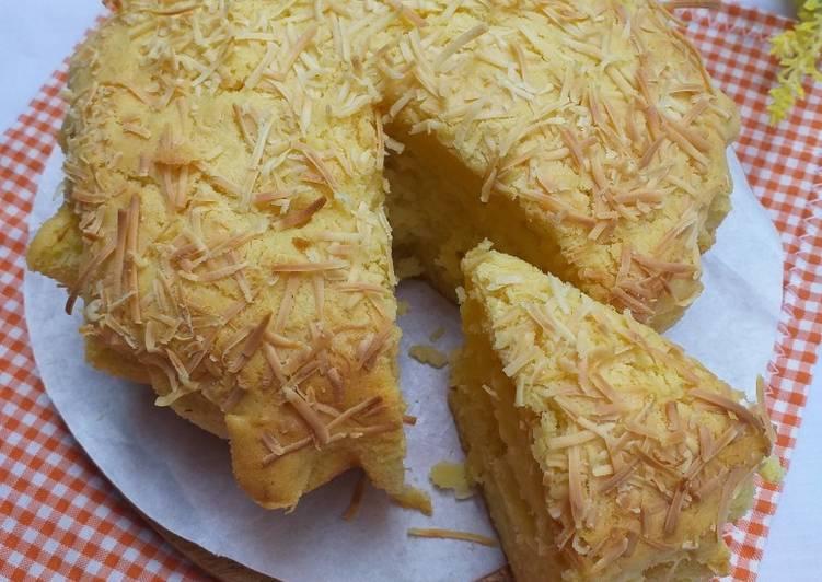 Resep: 20. Cake/bolu tape keju panggang