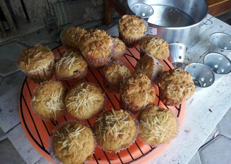 Resep mengolah Muffin tape