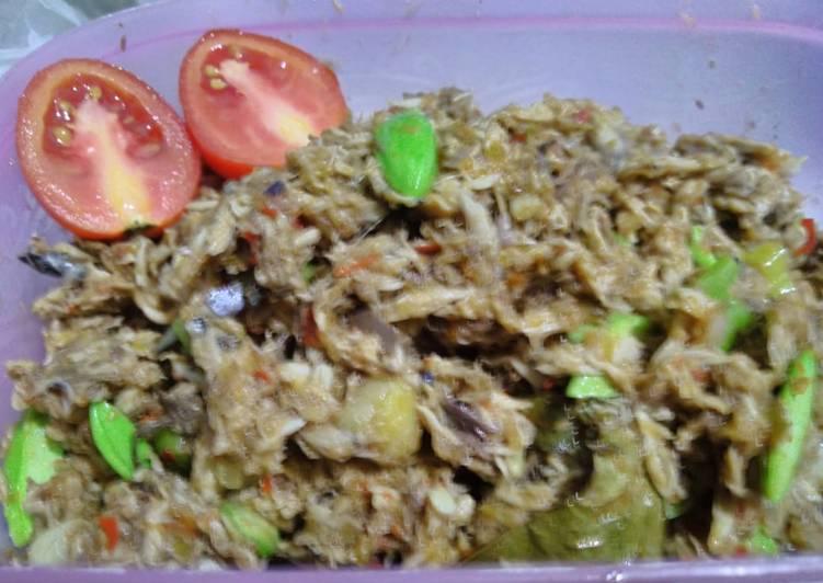 Resep memasak Suwar suwir tongkol pete pedas ala Bunda Al lezat