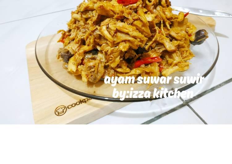 Resep mengolah Ayam kriwil suwar suwir mungil 😉