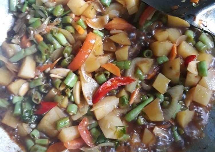 Cara memasak Tongseng suwar suwir sayur lezat