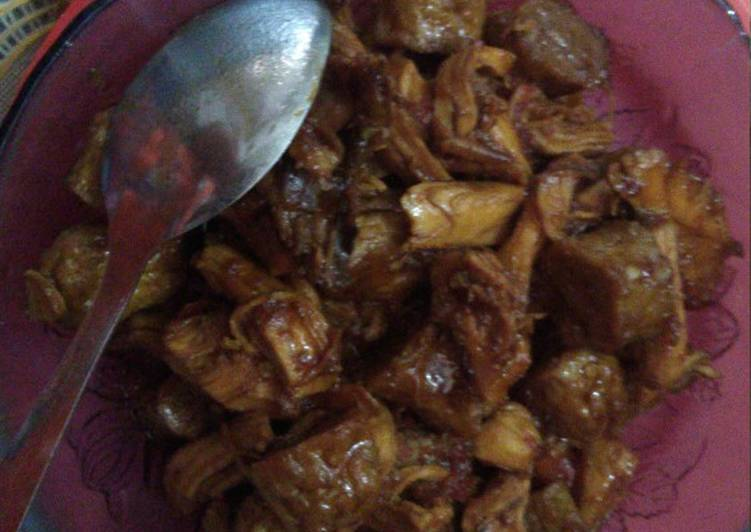 Resep: Suwar suwir dada ayam dan tempura kecap pedas manis simple 🙂✌