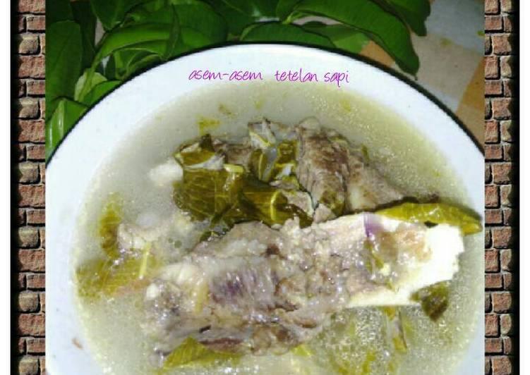 Resep: Asem-asem tetelan sapi daun kedondong khas bojonegoro