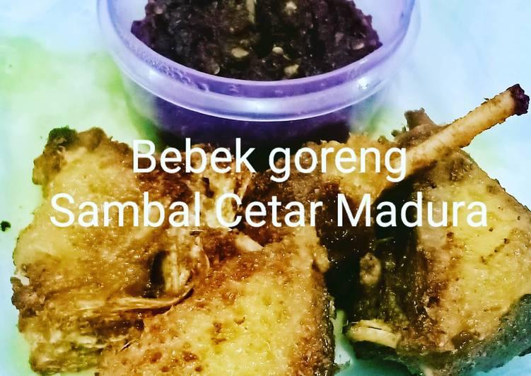 Resep membuat Bebek goreng sambal Cetar Madura 🔥