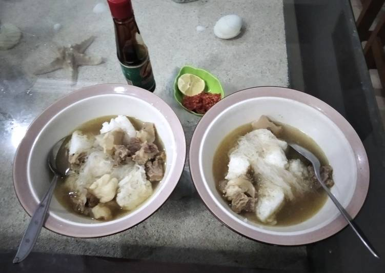 Resep: Kaldu kokot/kaki sapi khas madura