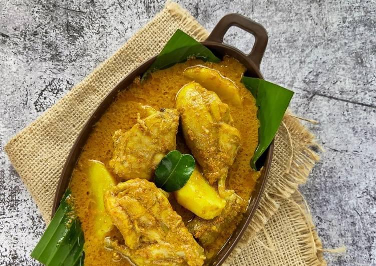 Cara memasak Gulai Ayam & Kentang istimewa