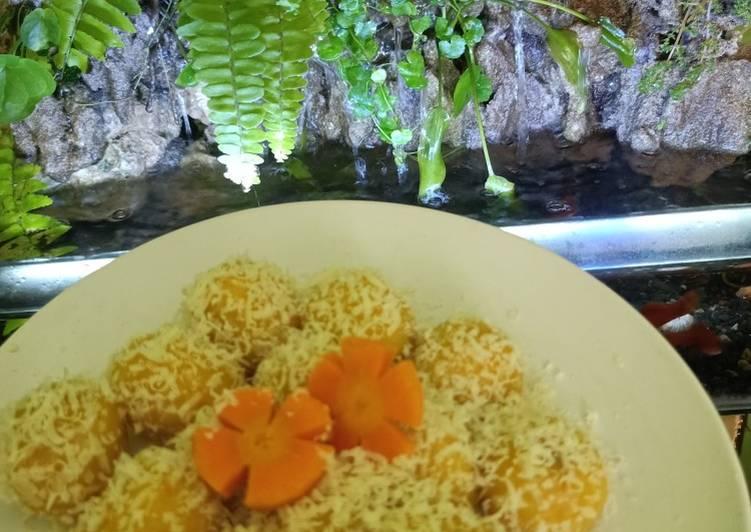Resep: Klepon wortel isi meses tabur keju