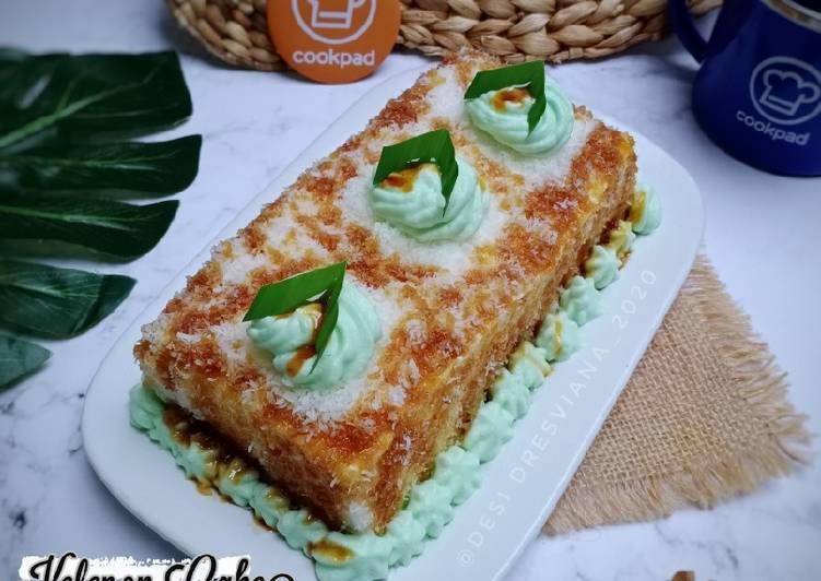 Cara Mudah membuat Kelepon Cake(1 telur aja)