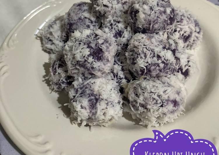 Resep: Klepon ubi ungu enak