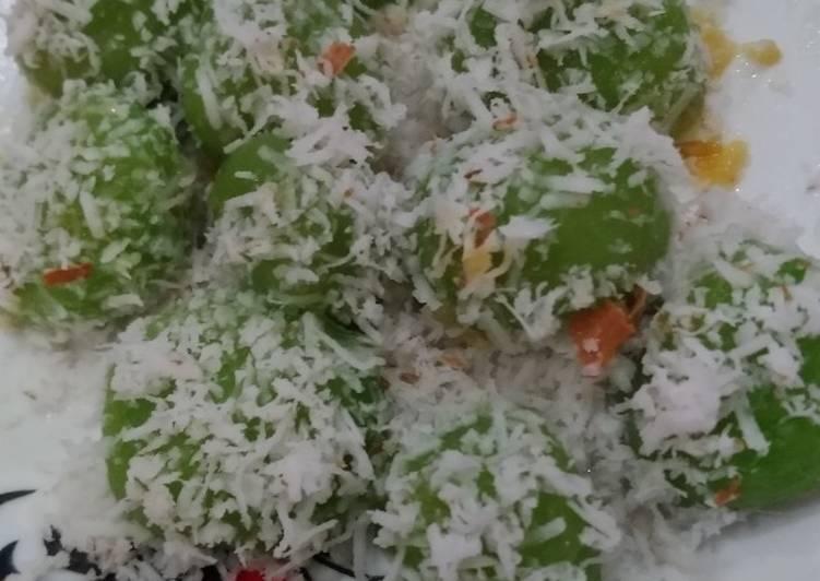 Resep: Klepon ubi hijau lezat