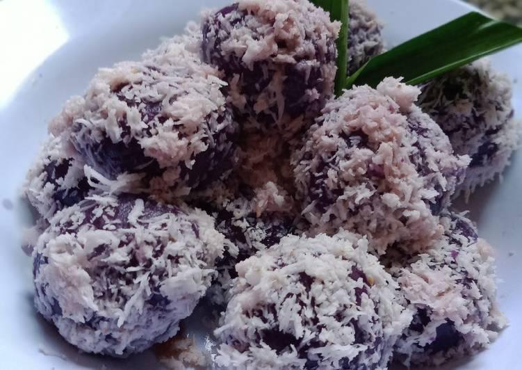 Resep memasak Klepon ubi ungu