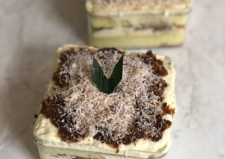 Cara Mudah memasak Klepon cake dessert box enak