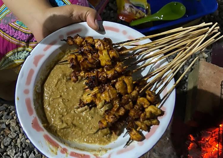 Resep: Sate ayam kuah kacang