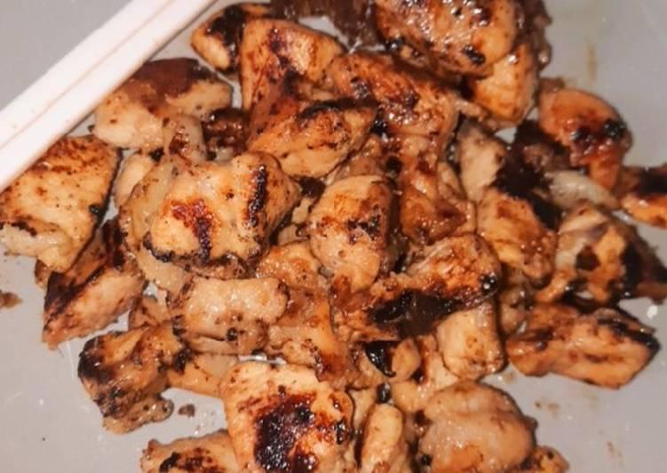 Resep membuat Sate goreng teflon tanpa minyak, sehat no ribet