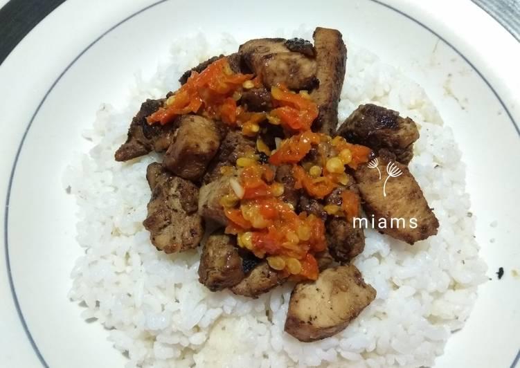 Resep: Sate ayam sambal korek