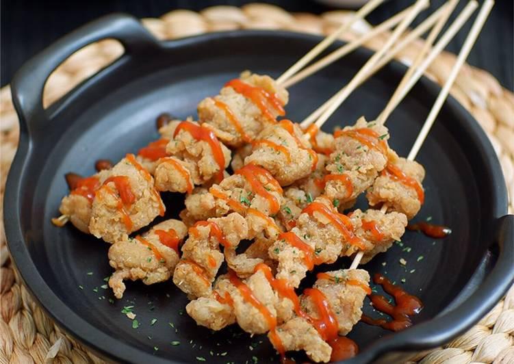 Resep: Sate chicken popcorn super kriuk #homemadebylita