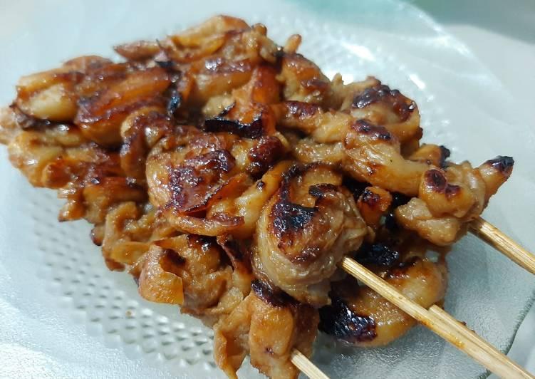 Resep memasak Sate Jamur Tiram bumbu kacang kecap -dengan Double Pan HappyCall