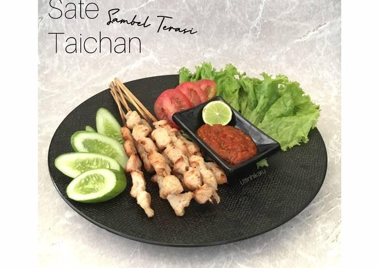 Cara Mudah memasak 214. Sate Taichan dengan Sambel Terasi