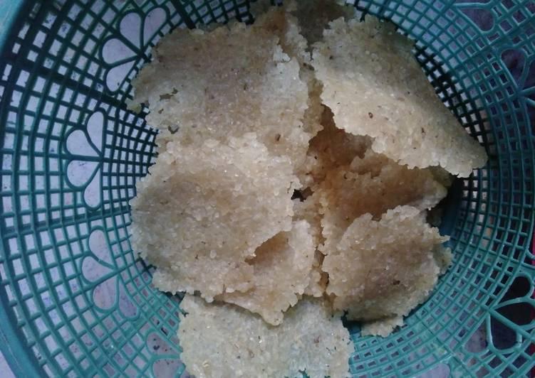Cara Mudah mengolah Karak (kerupuk nasi)