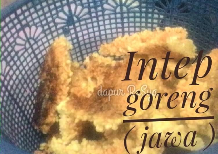 Resep: Intep goreng (karak nasi)