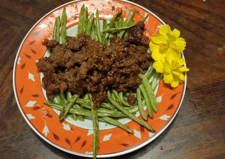 Resep: Buncis tumis sapi (inspirasi chinese food)