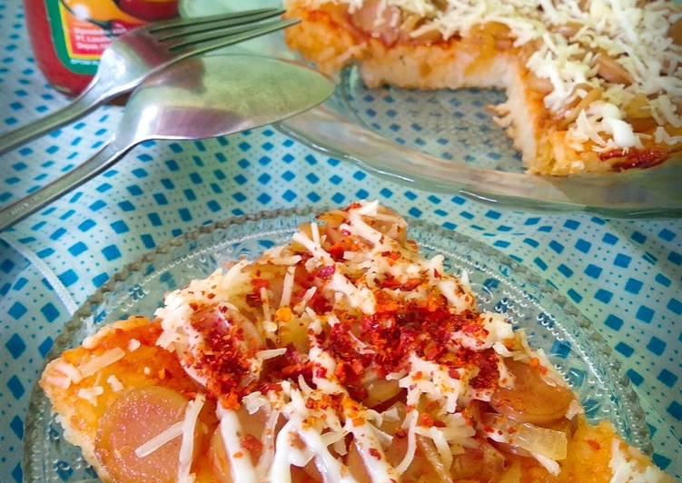 Cara mengolah Pizza Nasi teflon enak