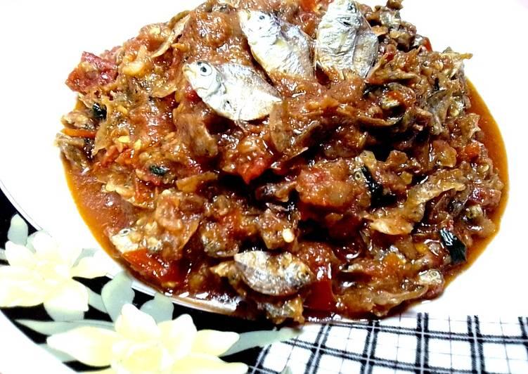 Resep memasak Sambal Ikan Gepeng khas Tuban istimewa