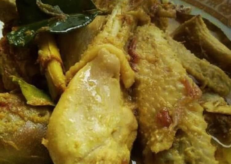 Resep memasak Ayam bumbu kuning tanpa santan