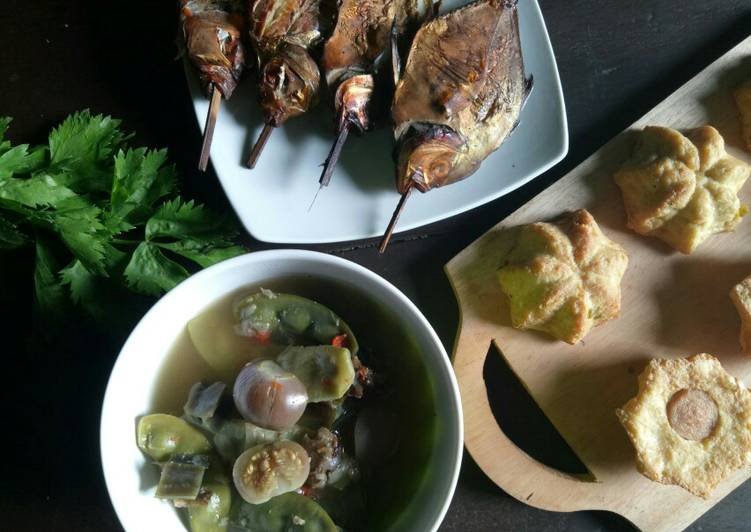 Resep memasak Sayur asem panggang ikan dodok