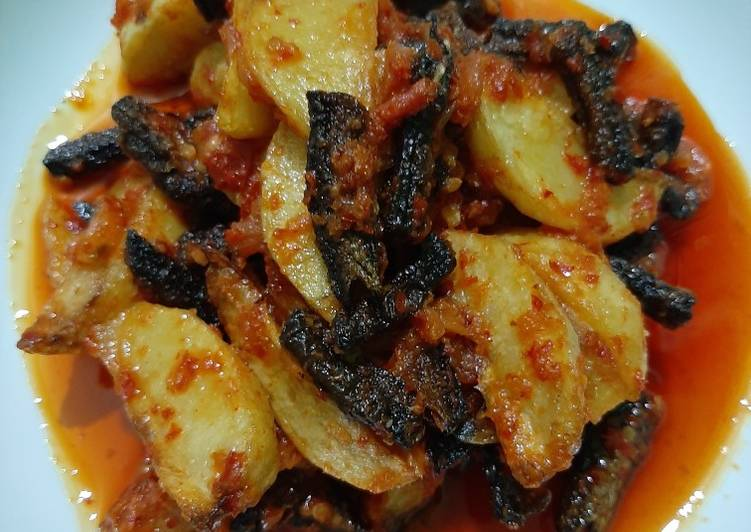 Resep: Balado belut + kentang